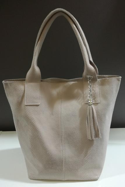 f19e1f68ff Púderrózsaszín piton mintás tavaszi bőr shopper táska - Tiktakwatch ...
